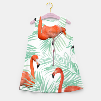 Thumbnail image of Flamingo & Mint Palm Girl's Summer Dress, Live Heroes