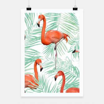 Thumbnail image of Flamingo & Mint Palm Poster, Live Heroes