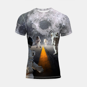 Thumbnail image of The Lost Astronauts Shortsleeve Rashguard, Live Heroes