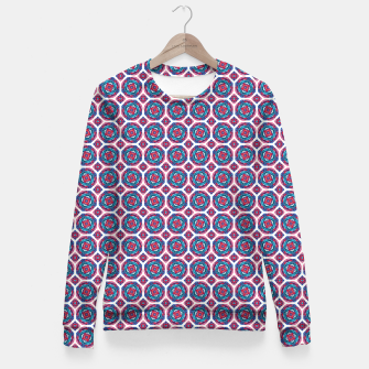 Thumbnail image of Red White and Blue Kaleidoscope Fitted Waist Sweater, Live Heroes