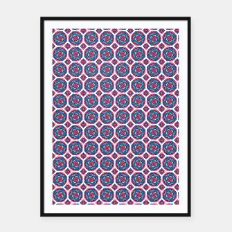 Thumbnail image of Red White and Blue Kaleidoscope Framed poster, Live Heroes