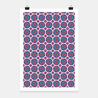 Thumbnail image of Red White and Blue Kaleidoscope Poster, Live Heroes