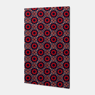 Thumbnail image of Navy and Red Stylized Roses Canvas, Live Heroes