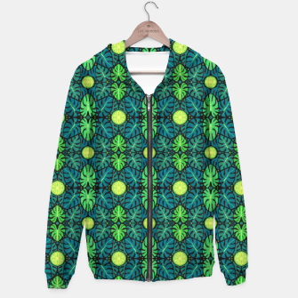 Monstera leaves floral pattern Hoodie thumbnail image