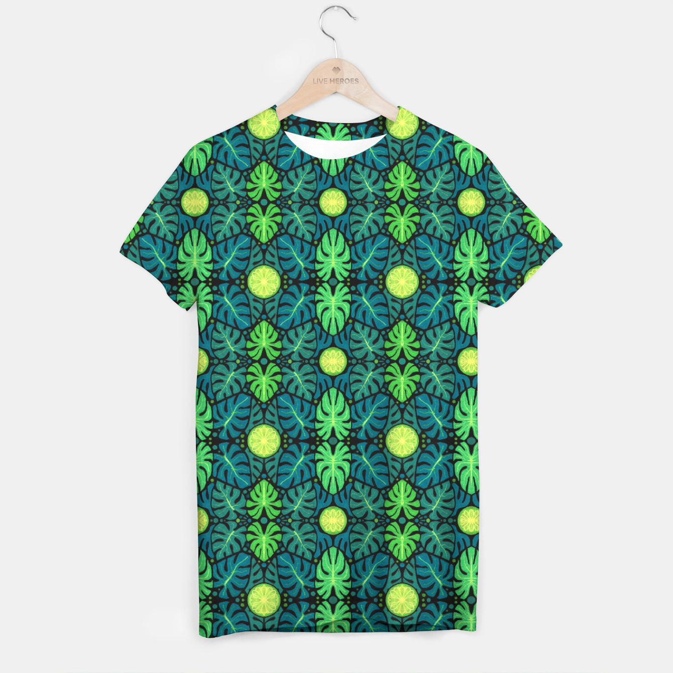 Image of Monstera leaves floral pattern T-shirt - Live Heroes