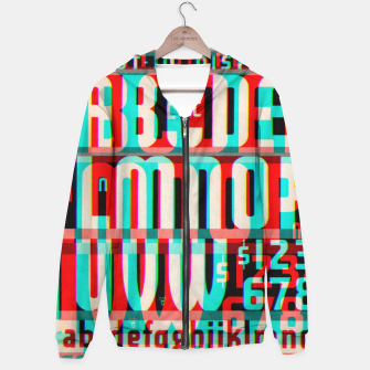 Thumbnail image of Gothic Cut Typo Glitch Version Hoodie, Live Heroes