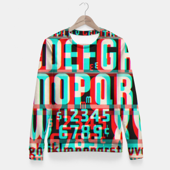 Thumbnail image of Gothic Cut Typo Glitch Version Fitted Waist Sweater, Live Heroes