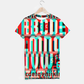Thumbnail image of Gothic Cut Typo Glitch Version T-shirt, Live Heroes