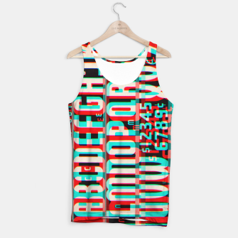 Thumbnail image of Gothic Cut Typo Glitch Version Tank Top, Live Heroes