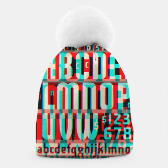 Thumbnail image of Gothic Cut Typo Glitch Version Beanie, Live Heroes