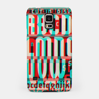 Thumbnail image of Gothic Cut Typo Glitch Version Samsung Case, Live Heroes