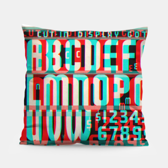 Thumbnail image of Gothic Cut Typo Glitch Version Pillow, Live Heroes