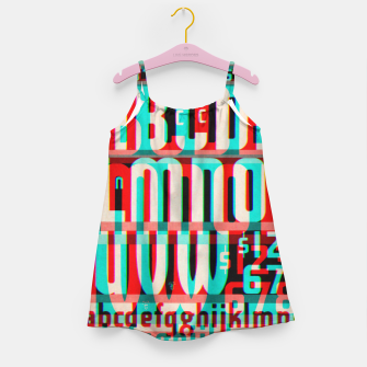Thumbnail image of Gothic Cut Typo Glitch Version Girl's Dress, Live Heroes