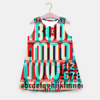Thumbnail image of Gothic Cut Typo Glitch Version Girl's Summer Dress, Live Heroes