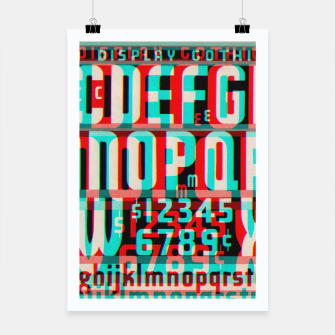 Thumbnail image of Gothic Cut Typo Glitch Version Poster, Live Heroes