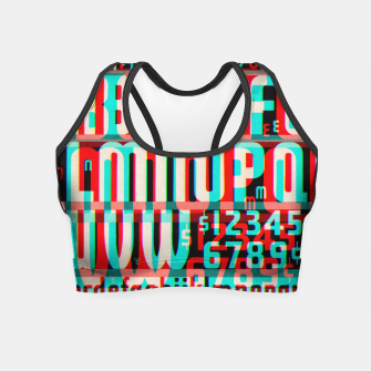 Thumbnail image of Gothic Cut Typo Glitch Version Crop Top, Live Heroes