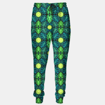 Thumbnail image of Monstera leaves floral pattern Sweatpants, Live Heroes
