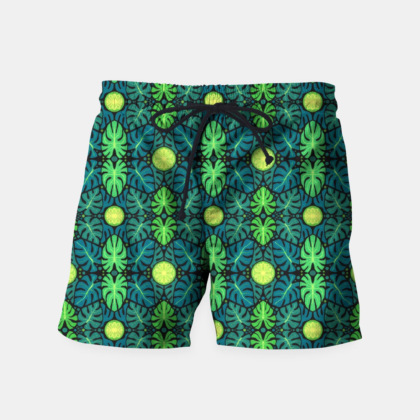 Image of Monstera leaves floral pattern Swim Shorts - Live Heroes