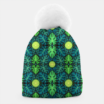 Monstera leaves floral pattern Beanie thumbnail image