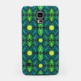 Monstera leaves floral pattern Samsung Case thumbnail image