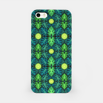 Monstera leaves floral pattern iPhone Case thumbnail image