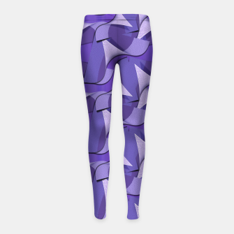 Thumbnail image of Ultra Violet Abstract Waves Girl's Leggings, Live Heroes