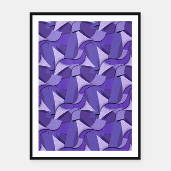 Thumbnail image of Ultra Violet Abstract Waves Framed poster, Live Heroes