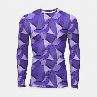 Thumbnail image of Ultra Violet Abstract Waves Longsleeve Rashguard , Live Heroes