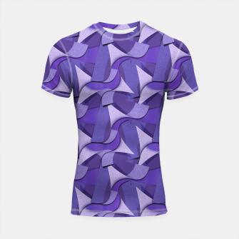 Thumbnail image of Ultra Violet Abstract Waves Shortsleeve Rashguard, Live Heroes