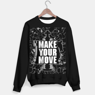 Thumbnail image of Make Your Move Chess Sweater regular, Live Heroes
