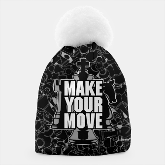 Thumbnail image of Make Your Move Chess Beanie, Live Heroes