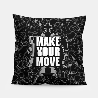Thumbnail image of Make Your Move Chess Pillow, Live Heroes