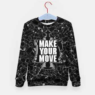 Thumbnail image of Make Your Move Chess Kid's Sweater, Live Heroes
