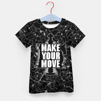 Thumbnail image of Make Your Move Chess Kid's T-shirt, Live Heroes