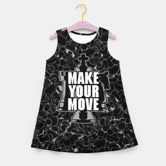 Thumbnail image of Make Your Move Chess Girl's Summer Dress, Live Heroes