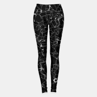 Thumbnail image of Make Your Move Chess Leggings, Live Heroes