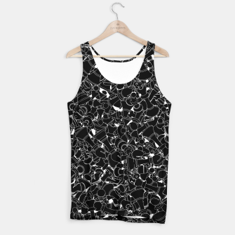 Thumbnail image of Chess Pattern BLACK Tank Top, Live Heroes