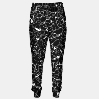 Thumbnail image of Chess Pattern BLACK Sweatpants, Live Heroes