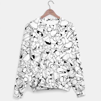 Thumbnail image of Chess Pattern WHITE Sweater, Live Heroes