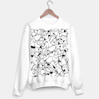 Thumbnail image of Chess Pattern WHITE Sweater regular, Live Heroes