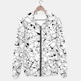 Thumbnail image of Chess Pattern WHITE Hoodie, Live Heroes