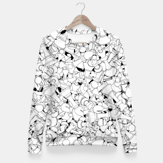 Thumbnail image of Chess Pattern WHITE Fitted Waist Sweater, Live Heroes