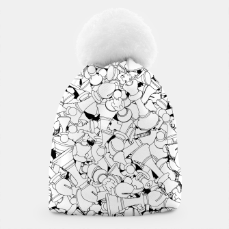 Thumbnail image of Chess Pattern WHITE Beanie, Live Heroes