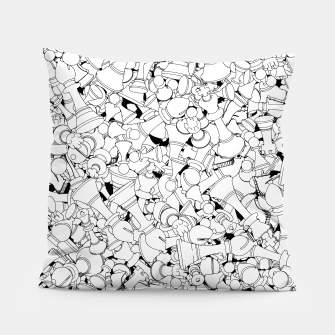 Thumbnail image of Chess Pattern WHITE Pillow, Live Heroes