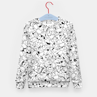 Thumbnail image of Chess Pattern WHITE Kid's Sweater, Live Heroes