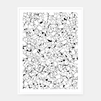 Thumbnail image of Chess Pattern WHITE Framed poster, Live Heroes