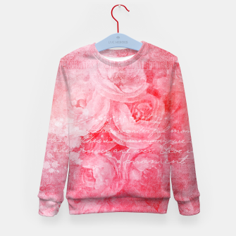 Thumbnail image of Pinkish Love Kid's Sweater, Live Heroes