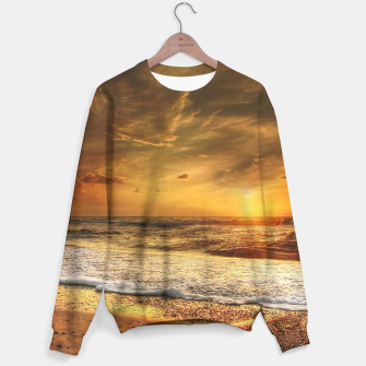 Thumbnail image of Beautiful California summer beach at sunset time Sweater, Live Heroes