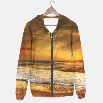 Thumbnail image of Beautiful California summer beach at sunset time Hoodie, Live Heroes