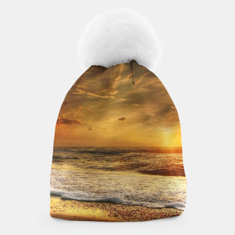 Thumbnail image of Beautiful California summer beach at sunset time Beanie, Live Heroes